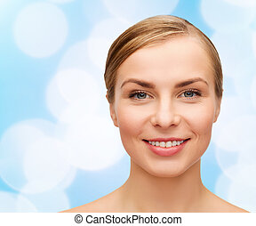 mulher bonita, rosto