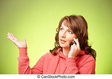 mulher bonita, smartphone