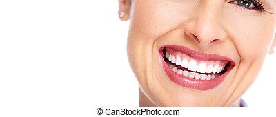 mulher bonita, smile.
