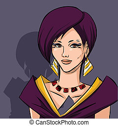 mulher, caricatura