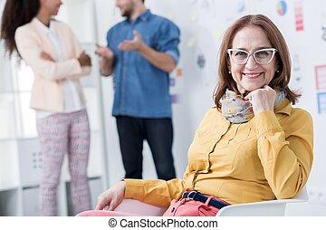 mulher carreira, dela, desenvolvendo