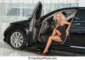 mulher carro