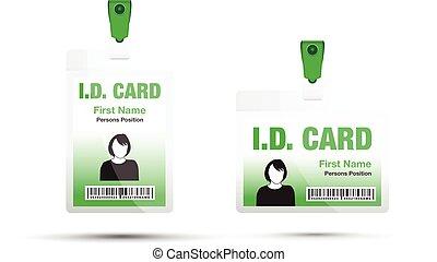 mulher, cartão id