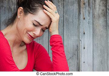 mulher chora