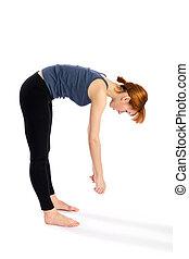 mulher, curva, exercício, condicão física