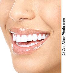 mulher, dentes