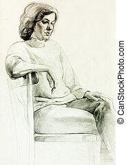 mulher, desenho
