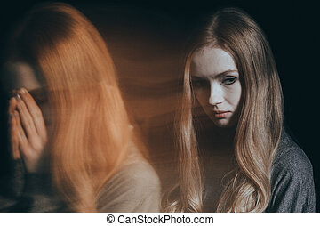 mulher, desordem, mental