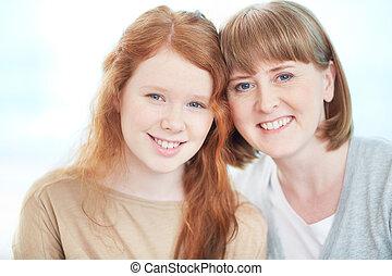 mulher, e, dela, filha