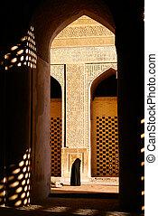 mulher, em, mesquita