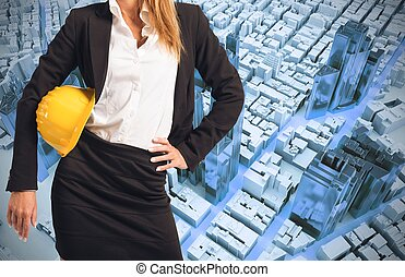 mulher, engenheiro