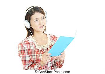 mulher, escutar música