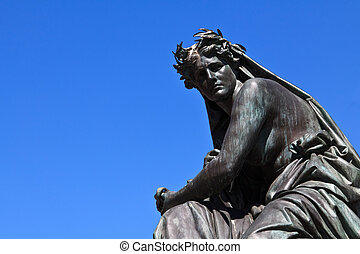 mulher, estátua