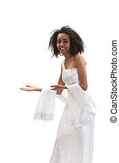 mulher, ethiopian, welcom