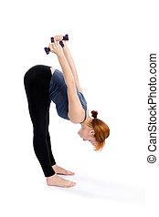 mulher, exercício, condicão física