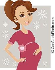 mulher, grávida