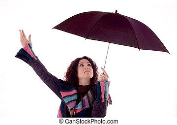 mulher guarda-chuva
