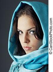 mulher, headscarf