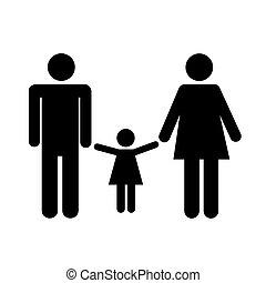mulher, homem, criança