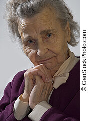 mulher, idoso