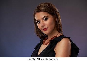 mulher, jovem, bonito, latina