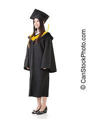 mulher, jovem, graduação