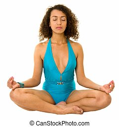 mulher, medita