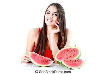 mulher, melancia