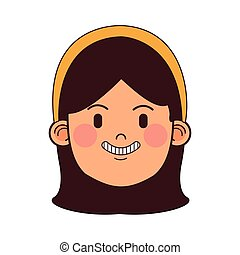 mulher, morena, avatar