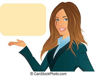 mulher negócio, ilustração