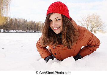 mulher, neve