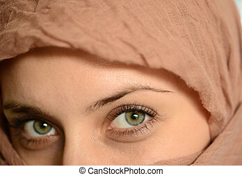 mulher, olhos