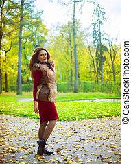 mulher, parque