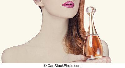 mulher, perfume