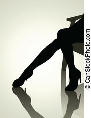 mulher, pernas