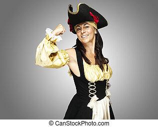 mulher, pirata