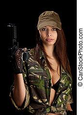 mulher, pistola