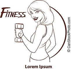 mulher, poder, beleza, condicão física, menina, desporto