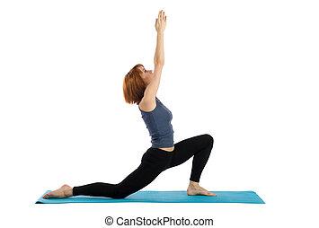 mulher, práticas, ioga