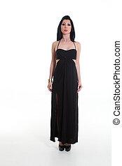 mulher preta, vestido