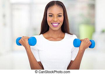 mulher, pretas, exercitar