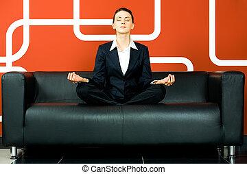 mulher, relaxado