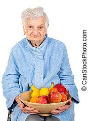 mulher sênior, dieta
