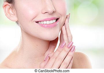 mulher, saúde, dentes
