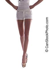 mulher, shorts