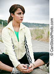 mulher, sporty