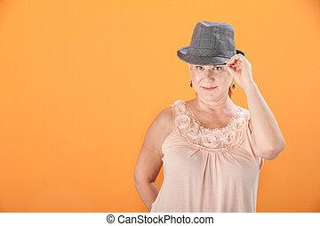 mulher, sugestões, dela, chapéu