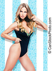 mulher, swimmsuit
