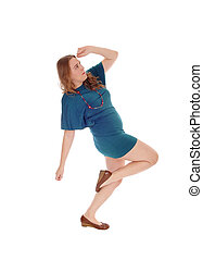 mulher, vestido, dançar.