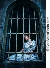 mulher victorian, vestido